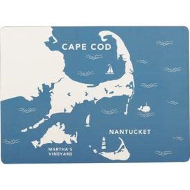 RockFlowerPaper Rock Flower Paper Cork Back Placemats S/4 - Coastal Cape Cod