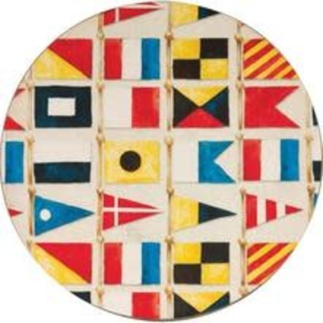 RockFlowerPaper Rock Flower Paper Coasters - Nautical Flags