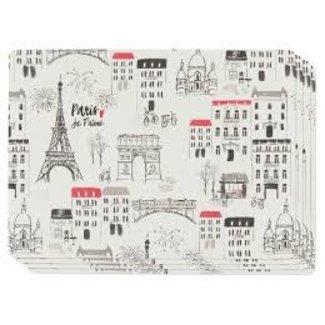 Now Designs Cork Backed Placemats Set of 4- Paris je T'aime