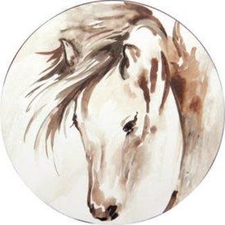 RockFlowerPaper Coasters Set of 4- Horse