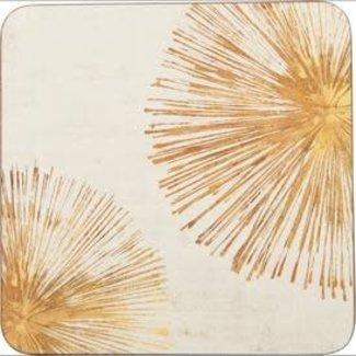 RockFlowerPaper Coasters Set of 4- Gold Sunbursts