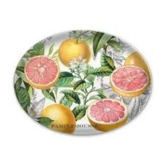 Michel Design Works Oval Glass Soap Dish - Pink Grapefruit