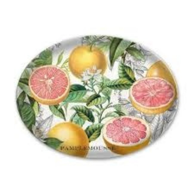 Michel Design Works MDW Oval Glass Soap Dish - Pink Grapefruit