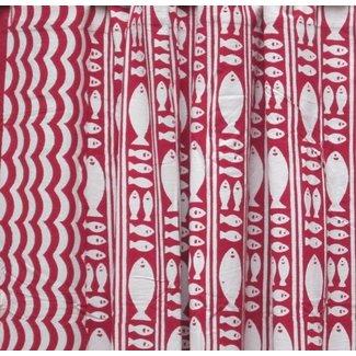 Natural Habitat Shower Curtain - Stripe Fish Red