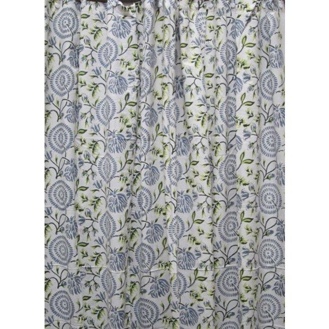 Natural Habitat Shower Curtain - Maya Blue