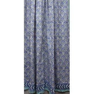 Natural Habitat Shower Curtain - Chrysanthemum Blue