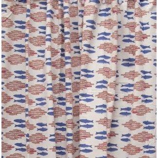 Natural Habitat Shower Curtain - Salmon