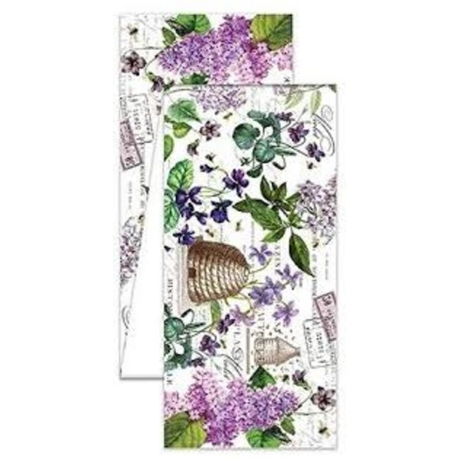 """Michel Design Works MDW 108"""" Fabric Table Runner- Lilac and Violets"""