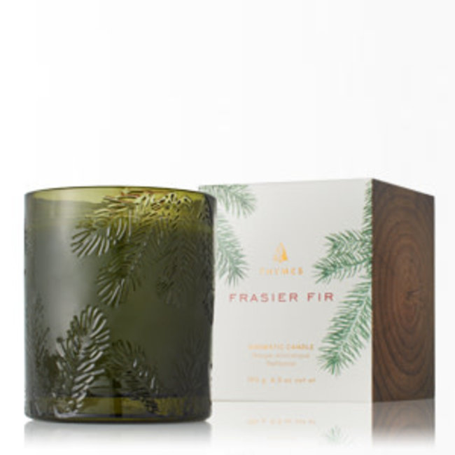 Thymes Thymes Frasier Fir Candle  Molded Green Glass