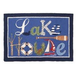 Peking Handicraft Peking Handicraft Hook Rug - Lake House - 27x40