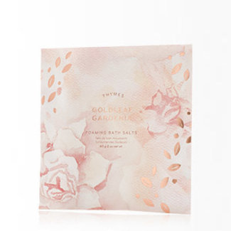 Thymes Foaming Bath Salts- Goldleaf Gardenia