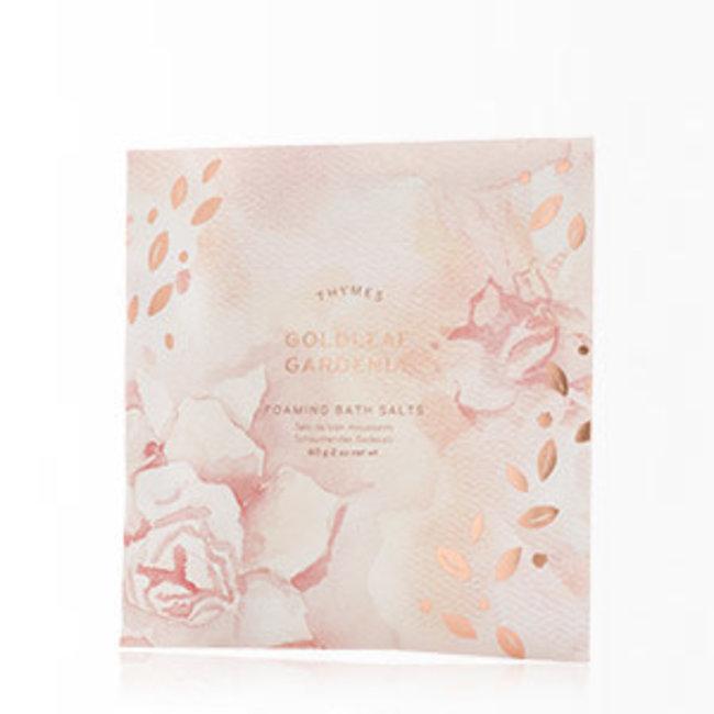 Thymes Foaming Bath Salts- Goldleaf Gardenia