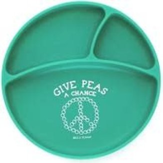 Bella Tunno Bella Tunno Wonder Plate - Give Peas A Chance