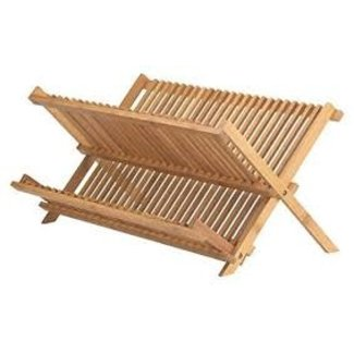 "HIC HIC - Helen's Asian Kitchen Dish Rack 20.5"" x 13"" - Natural Bamboo"