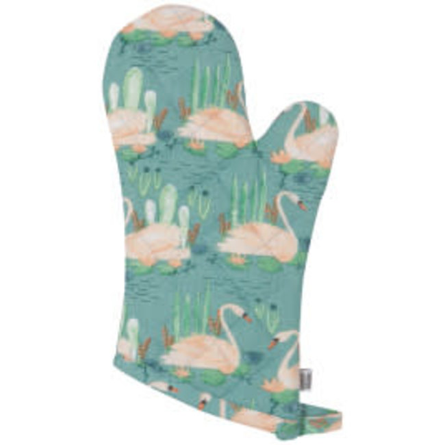Now Designs NOW Designs Oven Mitt- Classic Swan Lake