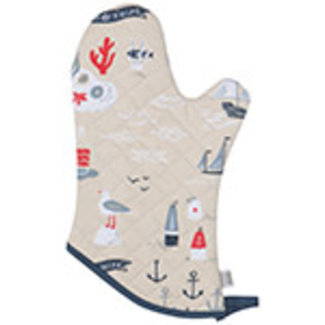 Now Designs Now Designs Oven Mitt - Fish and Ships
