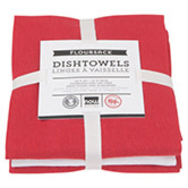 Now Designs Now Designs Flour sack dish towels set of 3-  Red