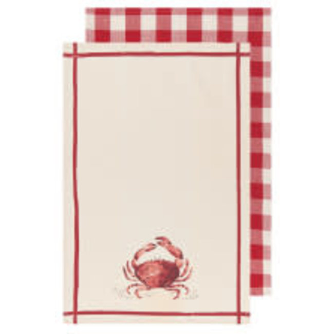 Now Designs Now Designs Set of 2 Tea Towels - Crab
