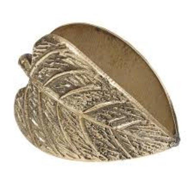DII Napkin Ring- Leaf Leaves Bronze