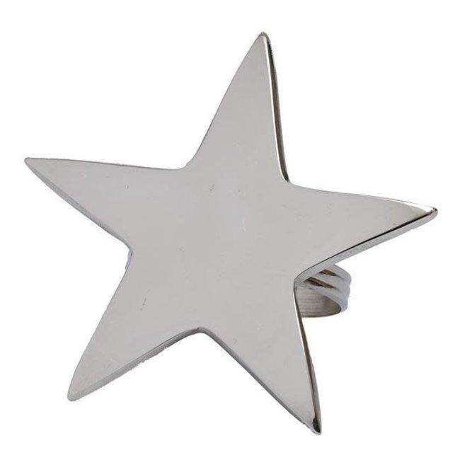 DII Napkin Ring- Silver Star