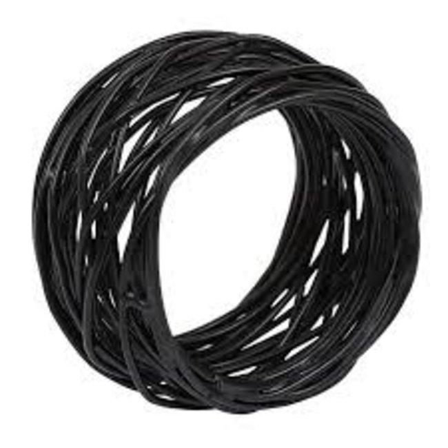 DII Napkin Ring- Bird Nest Black