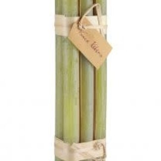 Vance Kitira Timber Taper Candle (Set of 6) - Green Grape