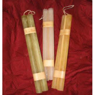 Vance Kitira Timber Taper Candle (Set of 2) -  Moss
