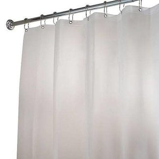 InterDesign Poly Shower Curtain Stall Liner 54 x 78 - White