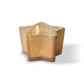 Tag Star Tealight - Antique Gold