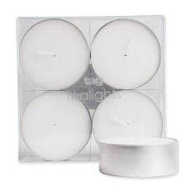 Tag Jumbo Tealight Candles Set/4