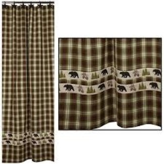 "Country Home Country Home 72'x72"" Shower Curtain - Woodland Plaid"