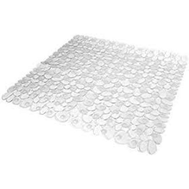 InterDesign Pebblz Square Shower Mat - Clear