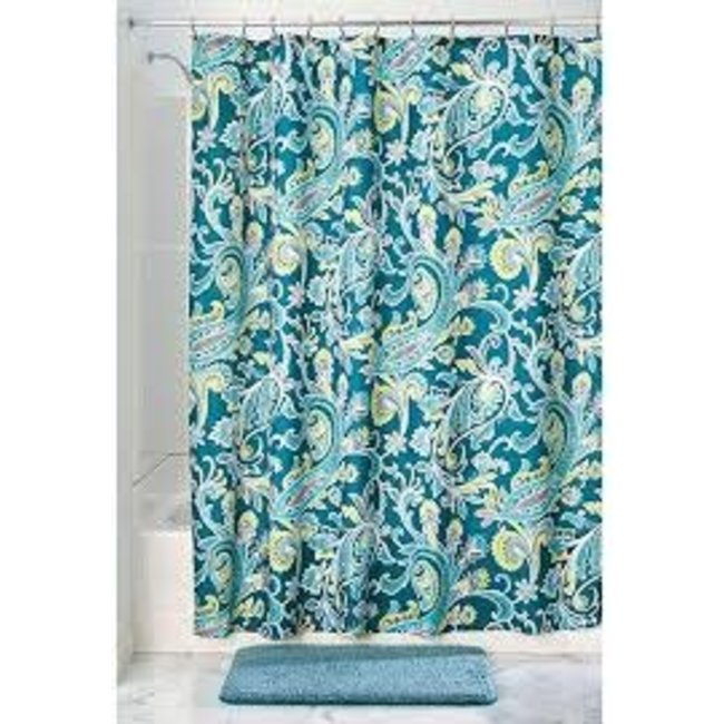 Interdesign Fabric Shower Curtain -  Harper Paisley