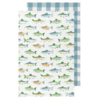 Now Designs Now Designs Dish Towel (Set of 2) - Gone Fishing