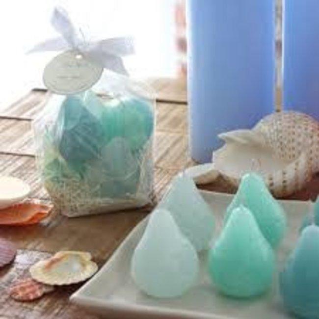 Vance Kitira Mini Pear Candle- Turquoise