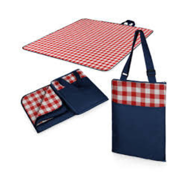 Picnic Time Picnic Time Vista Blanket Red Check with Navy