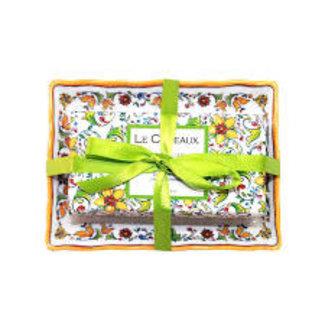 Le Cadeaux Le Cadeaux Soap Dish Set - Zest Of Lime