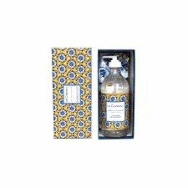 Le Cadeaux Le Cadeaux Hand Soap Tea Towel Gist Set - Fresh Sicilian Lemon