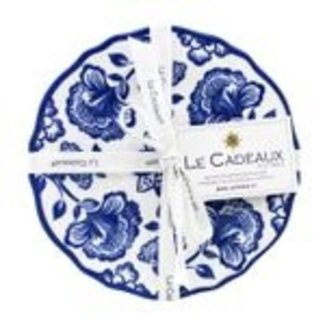 Le Cadeaux Le Cadeaux Appetizer Plate Set Of 4 - Jardin Blue