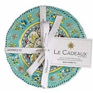 Le Cadeaux Le Cadeaux Appetizer Plate (Set Of 4 )- Madrid Turquoise