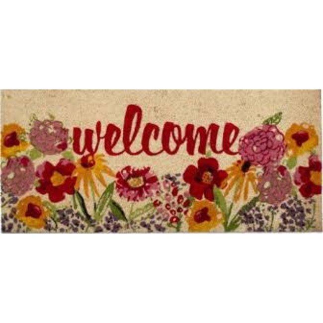 TAG Doormat- Fresh Flowers Welcome COIR Estate