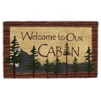 DII Welcome to Our Cabin Doormat