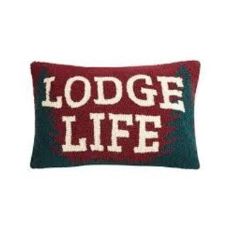 Peking Handicraft Peking Handicraft Pillow 12x18 - Lodge Life Hook