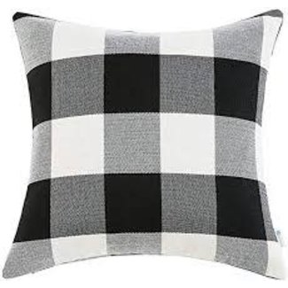Adv Black And White Check Pillow 20x20