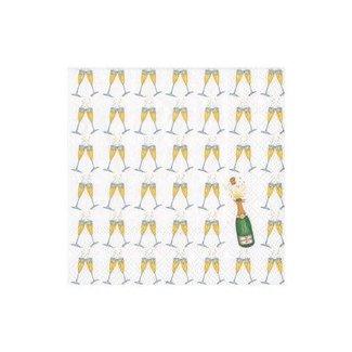 Caspari Caspari Cocktail Napkin- Bubbly Champagne