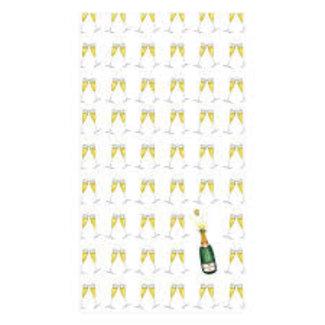 Caspari Caspari Hostess Napkin- Bubbly Champagne