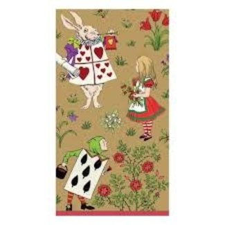 Caspari Caspari Hostess Napkins - ALICE IN WONDERLAND GOLD