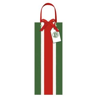 Caspari Caspari Bottle Gift Bag - Firenze Stripe