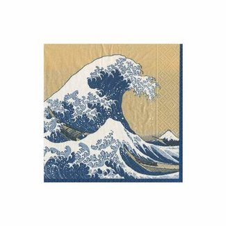 Caspari Caspari Cocktail Napkin- The Great Wave