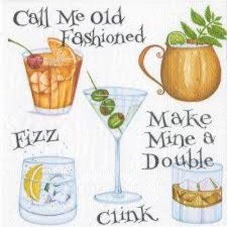 Caspari Caspari Cocktail Napkin- Cocktail Hour